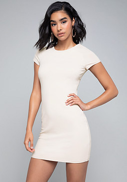bebe Solid Bodycon Dress