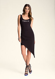 bebe Twist Hem Tank Dress