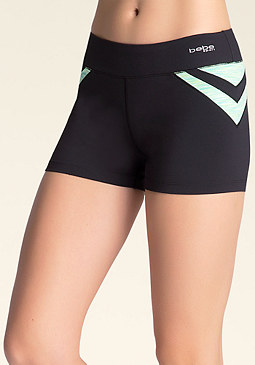 bebe Space Dye Contrast Shorts