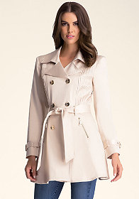 bebe Shine Belted Trench