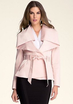 bebe Shawl Collar Jacket