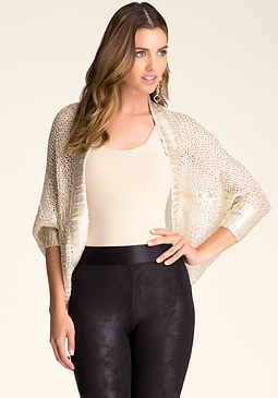 Metallic Cocoon Cardi at bebe