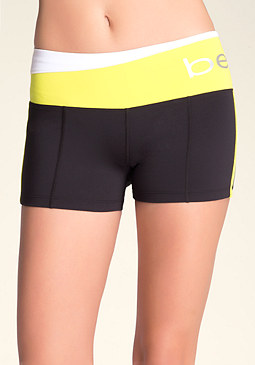 bebe Colorblock Logo Shorts