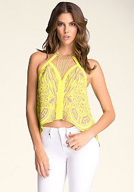 bebe Chain Halter Top