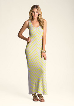 bebe Colorblock Maxi Dress