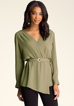 bebe Wrap Front Tunic