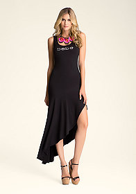 bebe Drape Hem Tank Dress