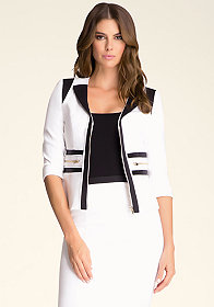 bebe Grosgrain Zipper Jacket