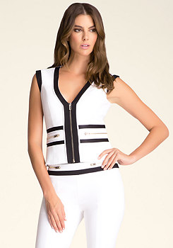 Colorblock Zipper Vest at bebe
