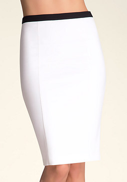 Zipper Pencil Skirt at bebe
