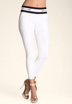 bebe Colorblock Zipper Pants