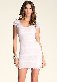 bebe Carolina Banded Lace Dress