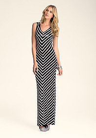 bebe Chevron Maxi Dress