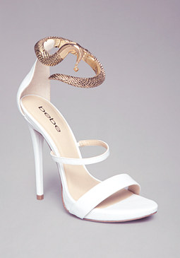 SAMEENA GOLD ANKLET SANDALS at bebe