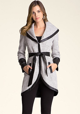 bebe Lydia Shawl Collar Coat