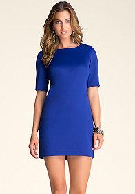 bebe Short-Sleeve Scuba Dress
