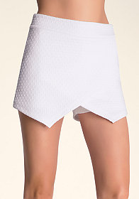 bebe Textured Asymmetric Shorts
