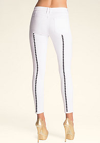 bebe Diamond Back Skinny Jeans