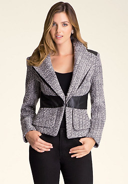 bebe Charlotte Tweed Jacket