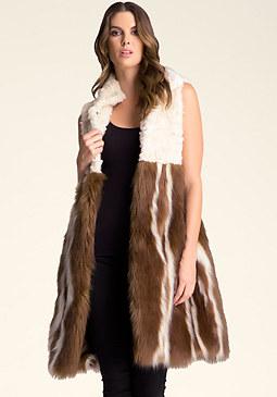 bebe Hannah Faux Fur Vest