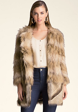 bebe Lucy Faux Fur Coat