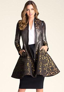 bebe Luciana Brocade Coat