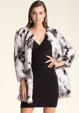 bebe Lizzi Faux Fur Coat