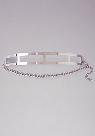 bebe Curved Metal Cutout Belt