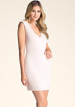 bebe Studded Shoulder Dress