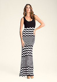 bebe Petite Stripe Maxi Dress