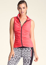 bebe Ruched Funnel Vest