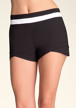 bebe Double Layer Hem Shorts