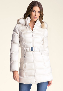 bebe Hooded Puffer Jacket