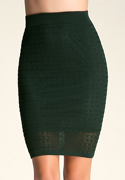 bebe Pointelle Midi Skirt