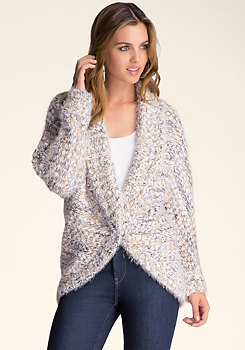 bebe Feathered Cocoon Sweater