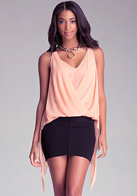 Drape Halter Top at bebe