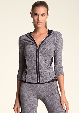 bebe 3/4 Sleeve Piping Hoody