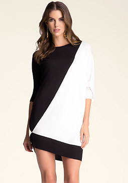 bebe Colorblock Sweater Dress