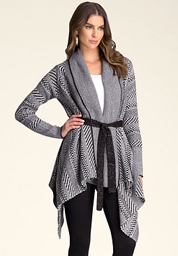 Waterfall Front Cardi at bebe
