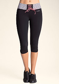bebe Sport Lace-Up Capris at bebe