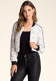 bebe Clarissa Letterman Jacket
