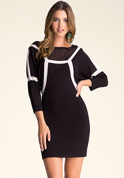 bebe Batwing Sweater Dress