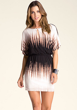 bebe Embellished Sleeve Dress