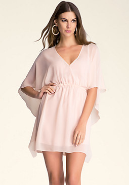 bebe Pullover Capelet Dress��