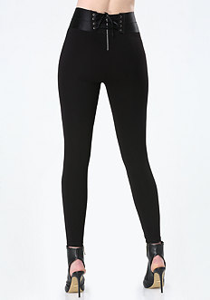 High-Rise Corset Leggings