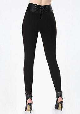 bebe High-Rise Corset Leggings