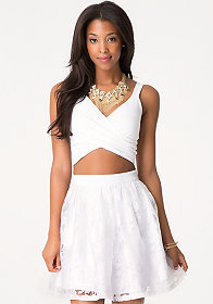 bebe Wrap Around Crop Top