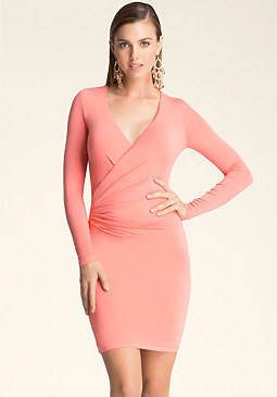 bebe Faux Wrap Dress
