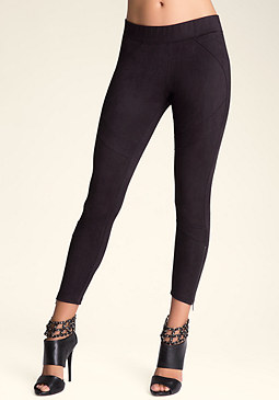 bebe Faux Suede Rocker Leggings