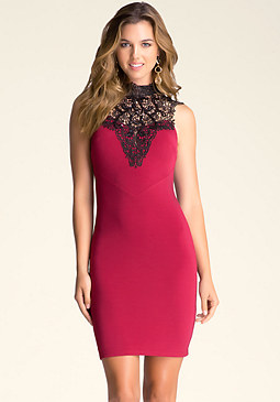 bebe Crochet Lace Dress